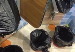 carnival trash cans for sanitation