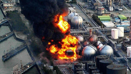 explosion and fire at Fukushima power plant