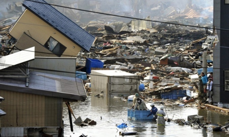 flooding after 2011 Tohoku earthquake and tsunami