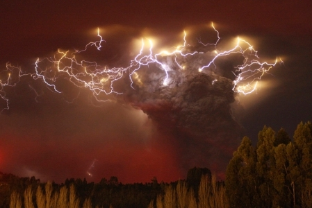 Puyehue-Conron Caulle volcano in Chile
