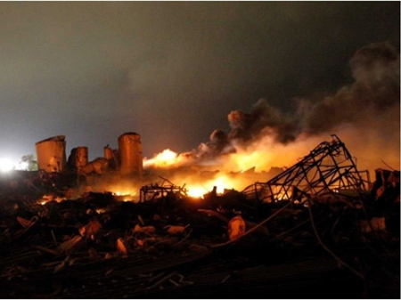 West Texas fertilizer plant fire