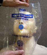 CPR mouth shield