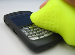 cyberclean goo helps clean smartphone keypads
