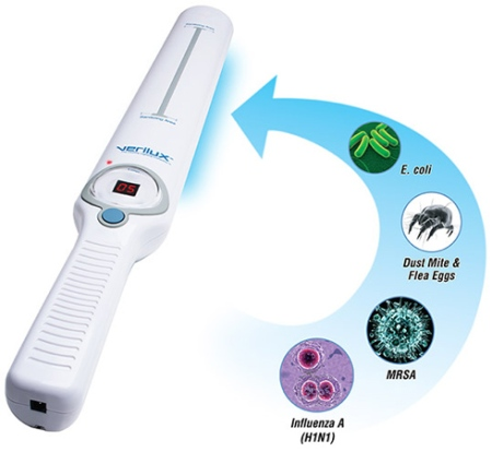 uv wand sanitizes cell phones and other devices