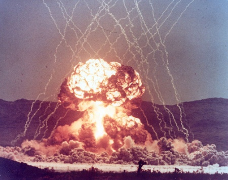 Operation Teapot Met Shot nuclear weapon explosion at Nevada Test site