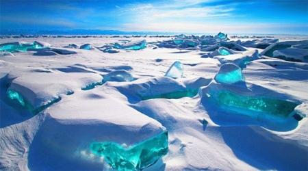 Siberia's Lake Baikal turquoise ice by Alex Trofimov