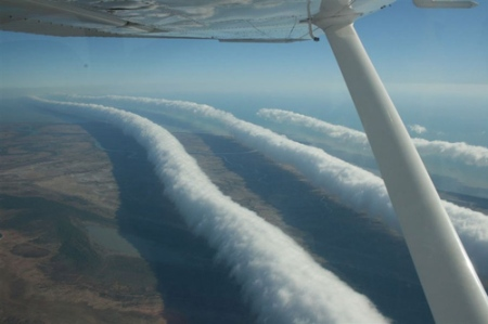 Morning glory or roll clouds over Australia