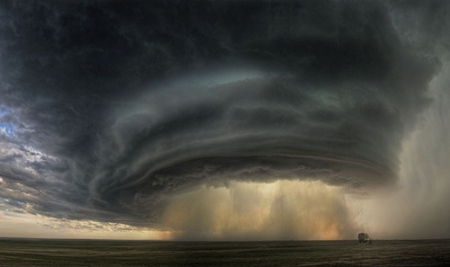 supercell or mothership cloud over Montana