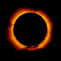 ring of fire eclipse from hinode satellite 2012