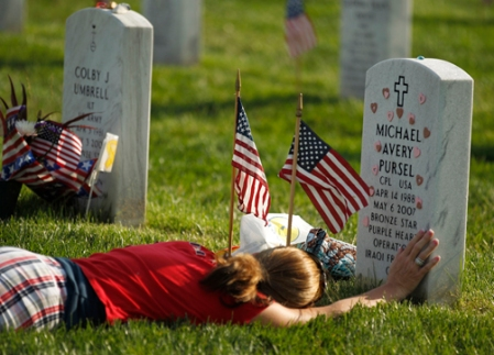 Photo by Jemal Countess Flags In Ceremony at Arlington National Cemetery