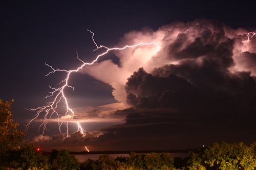 lightning positive cg by shear atmos