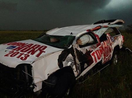 El Reno Oklahome EF5 tornado hunt vehicle by sean schofer