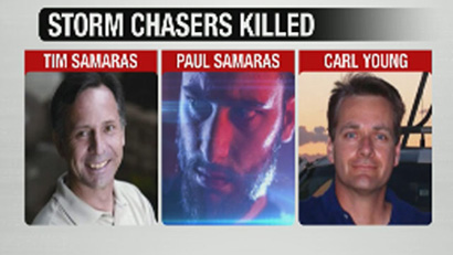 storm chasers Tim Samaras, his son Paul Samaras and Carl Young killed in El Reno tornado