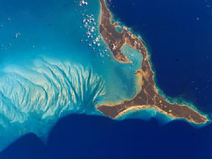bahamas photo from international space station