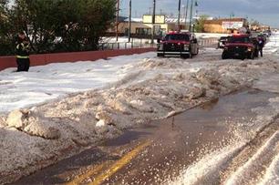 hail piles up city street santa rosa fd