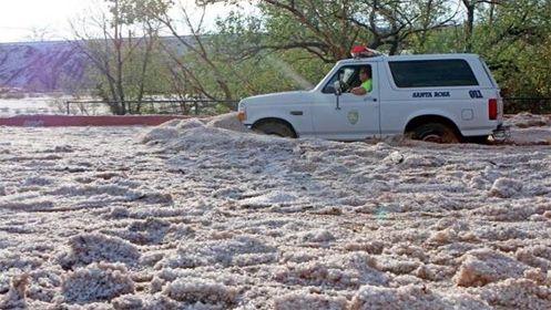 hailstorm santa rosa police vehicle new mexico state police