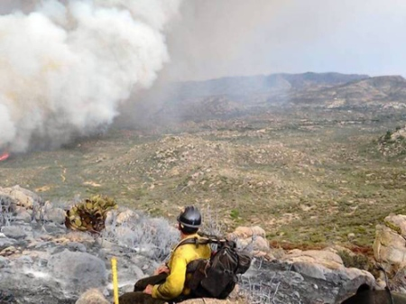 Yarnell Hill Fire photo by Wade Parker before overcome by fire