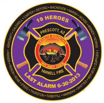 iaff logo used on yarnell prescott arizona 19 memorial program