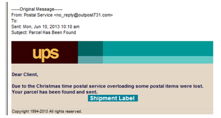 ups phishing shipping receipt